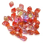 50 Dragon Scale Beads - Crystal Orange Rainbow