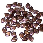 50 Dragon Scale Beads - Jet Bronze