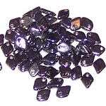 50 Dragon Scale Beads - Jet Hematite