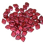50 Dragon Scale Beads - Lava Red