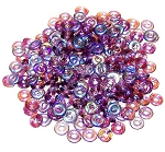 5 Grams of 4x1mm Czech Glass O-Beads - Amethyst AB