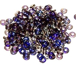 5 Grams of 4x1mm Czech Glass O-Beads - Crystal Azuro