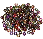 5 Grams of 4x1mm Czech Glass O-Beads - Crystal Magic Copper