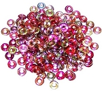 5 Grams of 4x1mm Czech Glass O-Beads - Crystal Magic Wine