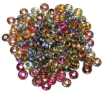 5 Grams of 4x1mm Czech Glass O-Beads - Crystal Marea