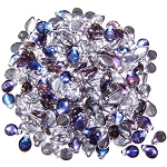 25 Czech Pip Beads - Crystal Bermuda Blue