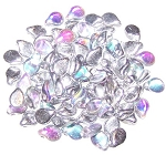 25 Czech Pip Beads - Crystal Silver Rainbow