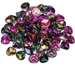 40 Czech Glass 8x7mm Petals - Crystal Magic Purple