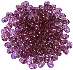 7.5 Grams - Superduo Beads - Crystal Violet Luster