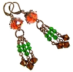Alluring Antique Copper Earrings Beaded Jewelry Making Kit