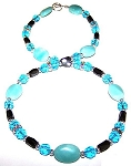 Aquamarine & Amazonite Fantasy Necklace Beaded Jewelry Making Kit