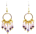 Beautiful Golden Loops Earrings Beaded Jewelry Making Kit