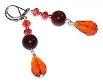 Blazing Tiger Earrings Beaded Jewelry Making Kit