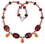 Blazing Tiger Necklace Beaded Jewelry Making Kit