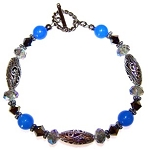 Blue Beauty Bracelet Beaded Jewelry Making Kit
