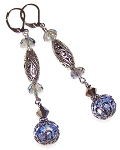 Blue Beauty Earrings Beaded Jewelry Making Kit