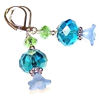 Blue Meadow Earrings Beaded Jewelry Making Kit