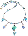 Blue Mermaid Necklace Beaded Jewelry Making Kit