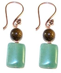 Bronzite Beauty Earrings Beaded Jewelry Making Kit