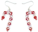 Earrings Beaded Jewelry Making Kit - Candy Cane