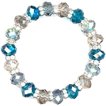 Cosmic Blue Sparkles Bracelet Beaded Jewelry Making Kit
