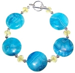 Crazy For Blue Bracelet Beaded Jewelry Making Kit