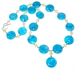 Crazy For Blue Necklace Beaded Jewelry Making Kit