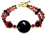 Crimson Dynasty Bracelet Beaded Jewelry Making Kit