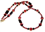 Crimson Dynasty Necklace Beaded Jewelry Making Kit