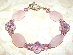 Danielle's Rose Quartz Treasure Bracelet Beaded Jewelry Making Kit