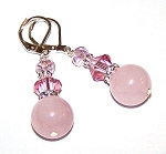 Danielle's Rose Quartz Treasure Earrings Beaded Jewelry Making Kit