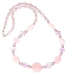 Danielle's Rose Quartz Treasure Necklace Beaded Jewelry Making Kit