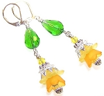 Delightful Daffodil Earrings Beaded Jewelry Making Kit
