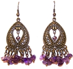 Elegant Amethyst Earrings Beaded Jewelry Making Kit