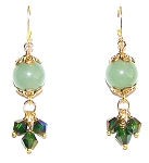 Emerald Elegance Earrings Beaded Jewelry Making Kit