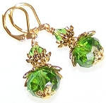 Emerald Luster Earrings Beaded Jewelry Making Kit