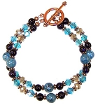 Exotic Blue Bracelet Beaded Jewelry Making Kit