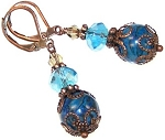 Exotic Blue Earrings Beaded Jewelry Making Kit