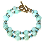 Exquisite Amazonite Bracelet Beaded Jewelry Making Kit