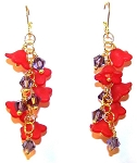 Fanciful Flowers Earrings Beaded Jewelry Making Kit