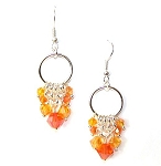 Fiery Phoenix Earrings Beaded Jewelry Making Kit