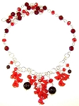 Garnet Garland Necklace Beaded Jewelry Making Kit