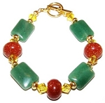 Glittering Goldstone & Aventurine Bracelet Beaded Jewelry Making Kit