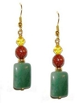 Glittering Goldstone & Aventurine Earring Beaded Jewelry Making Kit