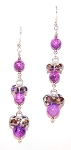 Glitzy Purple Dangles Earrings Beaded Jewelry Making Kit