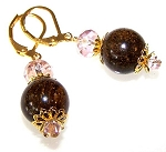 Golden Sophistication Earrings Beaded Jewelry Making Kit