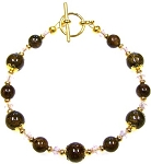 Golden Sophistication Bracelet Beaded Jewelry Making Kit