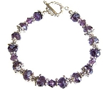 Graceful Purple Bracelet Beaded Jewelry Making Kit