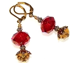 Imperial Ruby Earrings Beaded Jewelry Making Kit