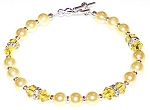 Lemon Meringue Bracelet Beaded Jewelry Making Kit
